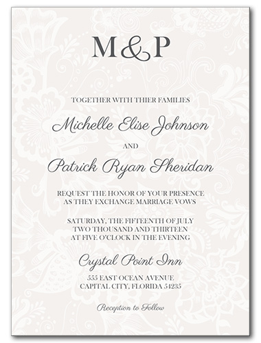 Decadent Monogram Wedding Invitation