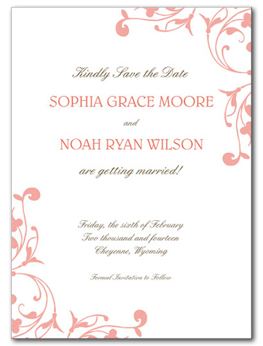 Delicate Destiny Save the Date Card