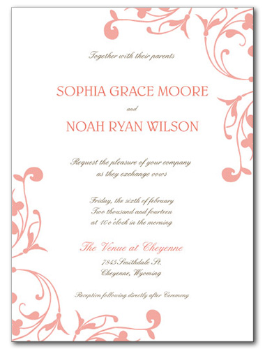 Delicate Destiny Wedding Invitation