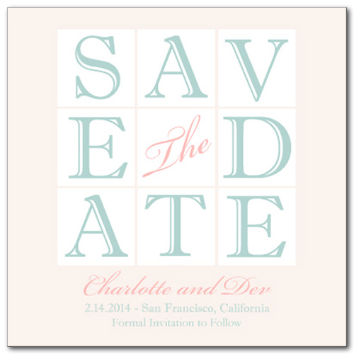 Delicate Spell Square Save the Date Card