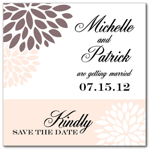 Delightful Dahlia Square Save the Date Card
