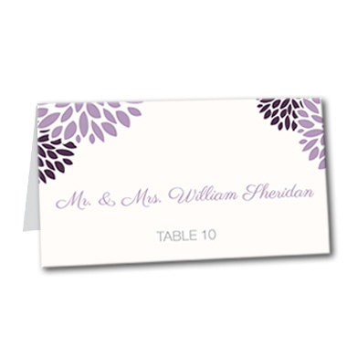 Delightful Dahlia Table Card