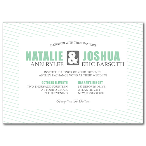 Delightful Destiny Wedding Invitation