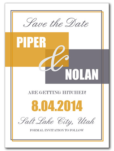 Divine Fall Save the Date Card