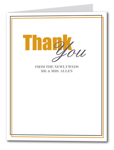 Divine Fall Thank You Card