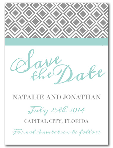 Diamond Lace Save the Date Card