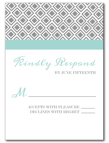 Diamond Lace Response Card