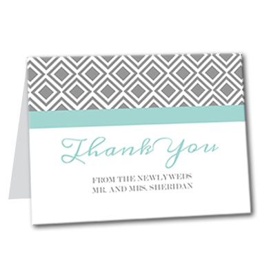 Diamond Lace Thank You Card