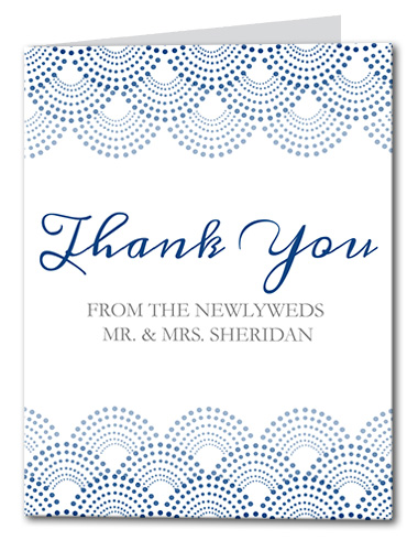 Dotted Scallop Thank You Card