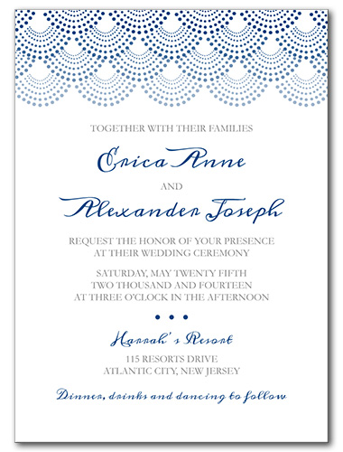 Dotted Scallop Wedding Invitation