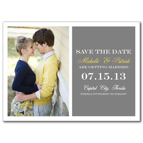 Dreamy Duo Save the Date Card