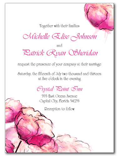 Dreamy Watercolor Wedding Invitation