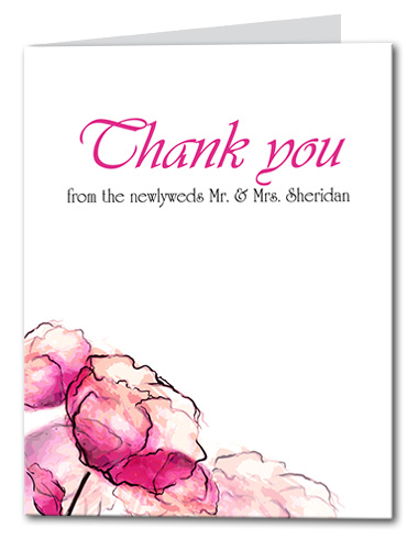 Dreamy Watercolor Thank You Card