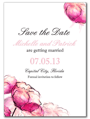 Dreamy Watercolor Save the Date Card