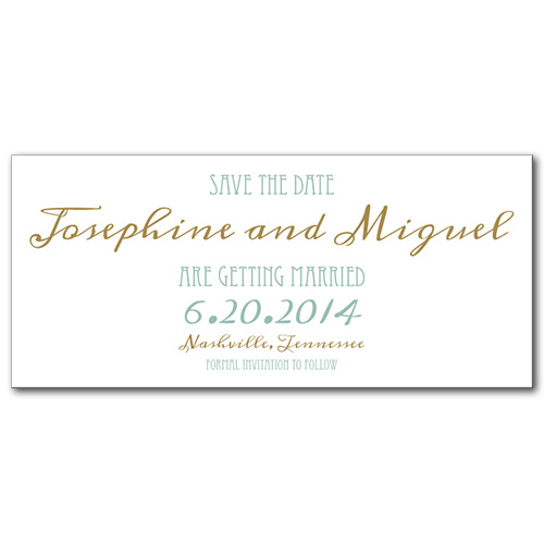 Elegant Emerald Save the Date Card
