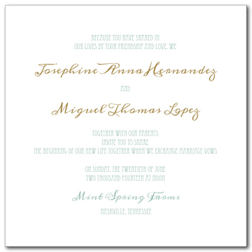 Elegant Emerald Wedding Invitation