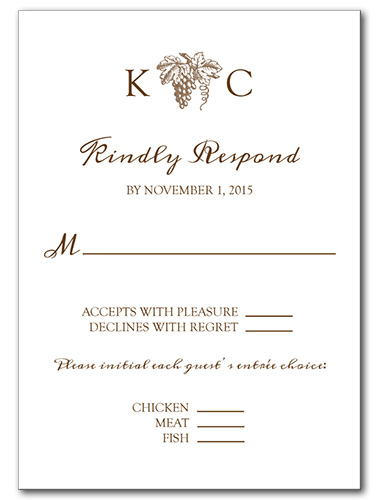 Elegant Vineyard Response Card