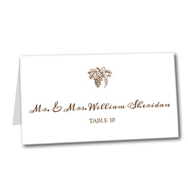 Elegant Vineyard Table Card