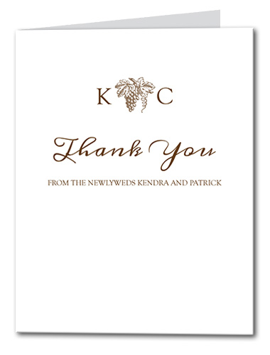 Elegant Vineyard Thank You Card