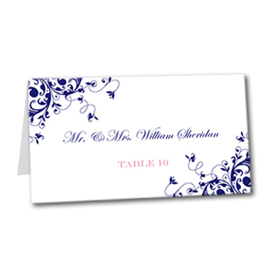 Elegantly Antique Table Card
