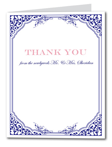 Elegantly Antique Thank You Card