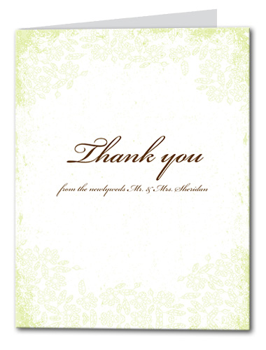 Enchanted Garden Thank You Card