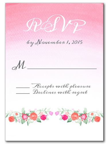 Faded Florals Response Card