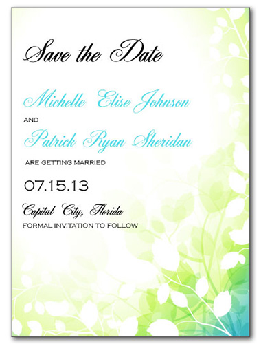 Fairy Forest Save the Date Card