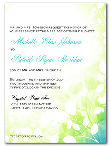 Fairy Forest Wedding Invitation