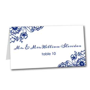 Fine China Table Card