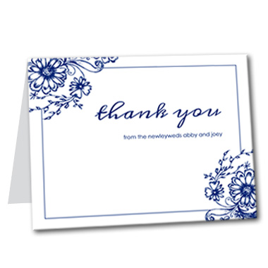 Fine China Thank You Card