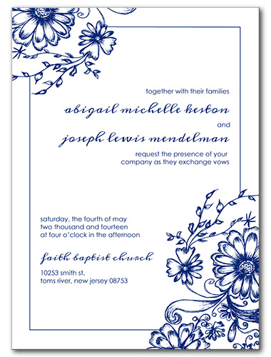 Fine China Wedding Invitation
