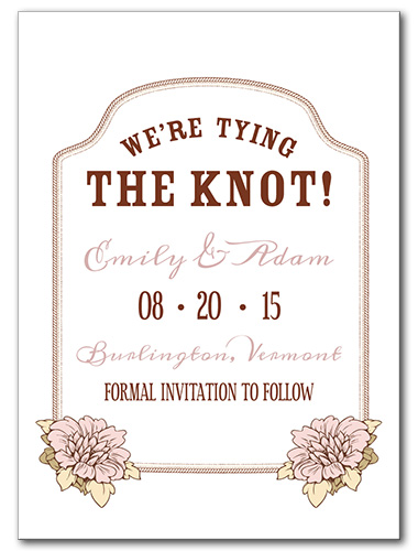 Floral Bloom Save the Date