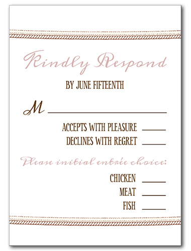 Floral Bloom Response Card
