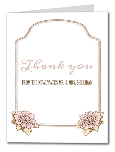 Floral Bloom Thank you Card