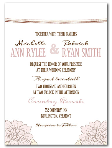 Floral Bloom Wedding Invitation