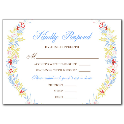 Floral Bound Response Card