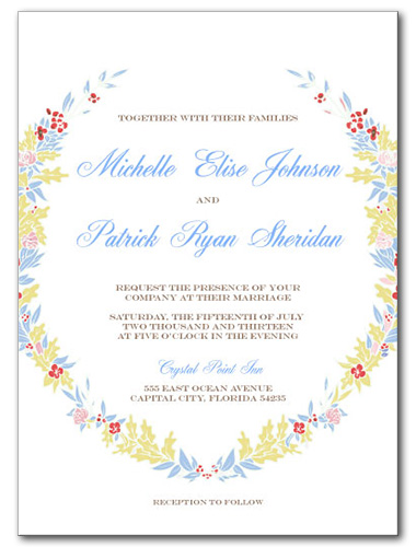 Floral Bound Wedding Invitation