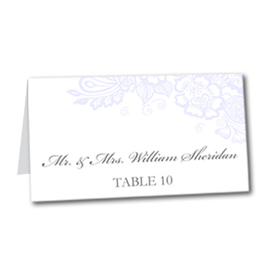 Floral Mystique Table Card
