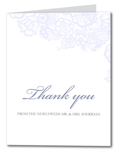 Floral Mystique Thank You Card