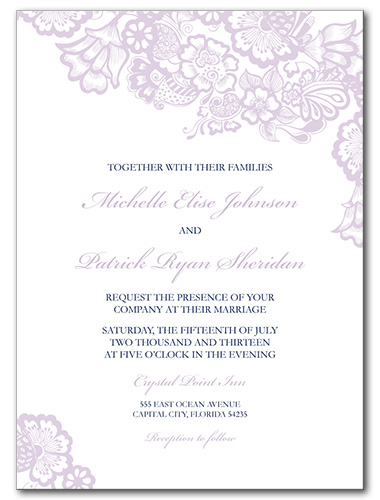 Floral Mystique Wedding Invitation