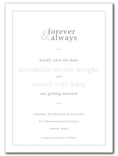 Forever and Always Save the Date Card