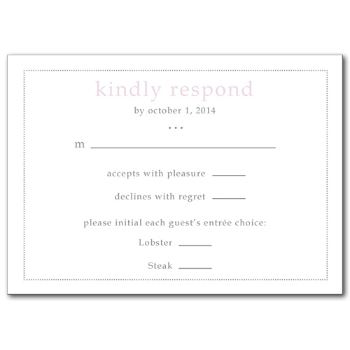 Forever and Always Response Card