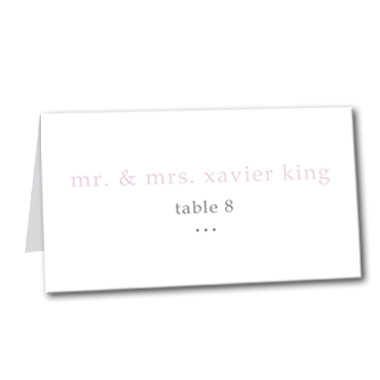 Forever and Always Table Card