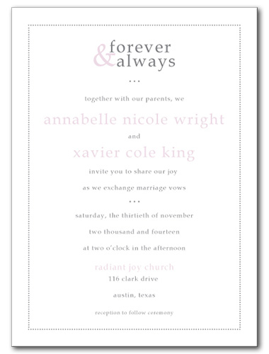 Forever and Always Wedding Invitation
