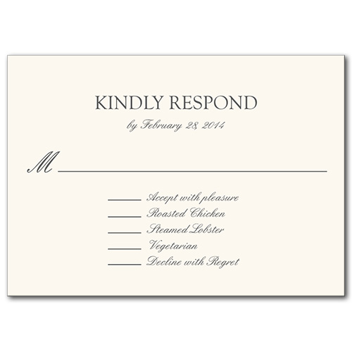 Formal Attire Response Card