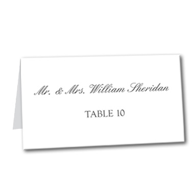 Formal Attire Table Card