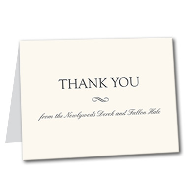 Formal Attire Thank You Card