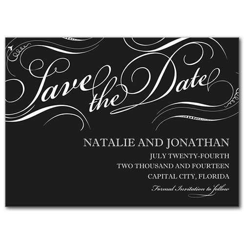 Formal Flourish Save the Date Card