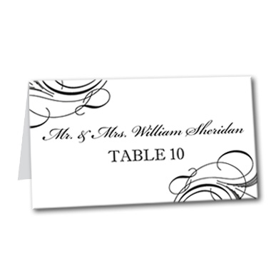 Formal Flourish Table Card